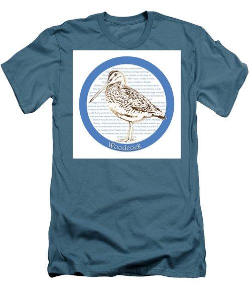 Woodcock Men's T-Shirt (Slim Fit) by Greg Joens
