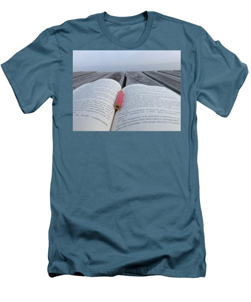Words On The Dock Men's T-Shirt (Slim Fit) by Christin Brodie