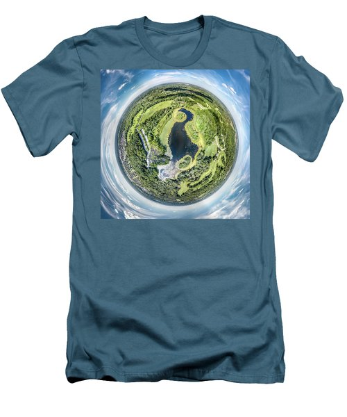 Men's T-Shirt (Athletic Fit) featuring the photograph World Of Whitnall Park by Randy Scherkenbach