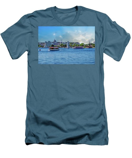 Yacht And Beach Club Walt Disney World Men's T-Shirt (Slim Fit) by Thomas Woolworth