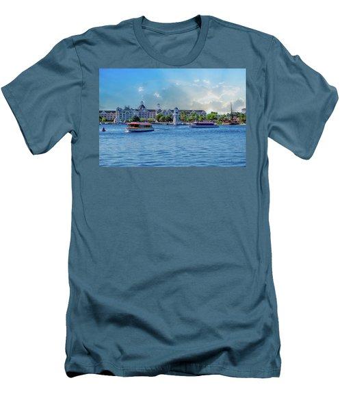 Yacht And Beach Club Walt Disney World Men's T-Shirt (Athletic Fit)