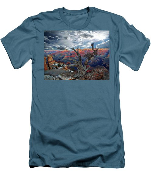 Yaki Point Grand Canyon Men's T-Shirt (Slim Fit) by Anthony Dezenzio