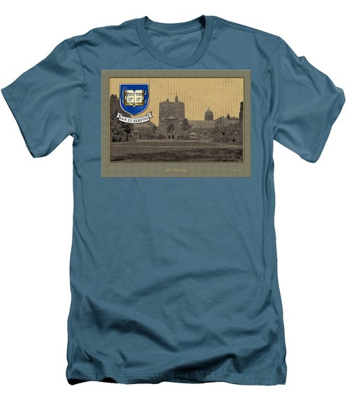 Yale University Building With Crest Men's T-Shirt (Athletic Fit)