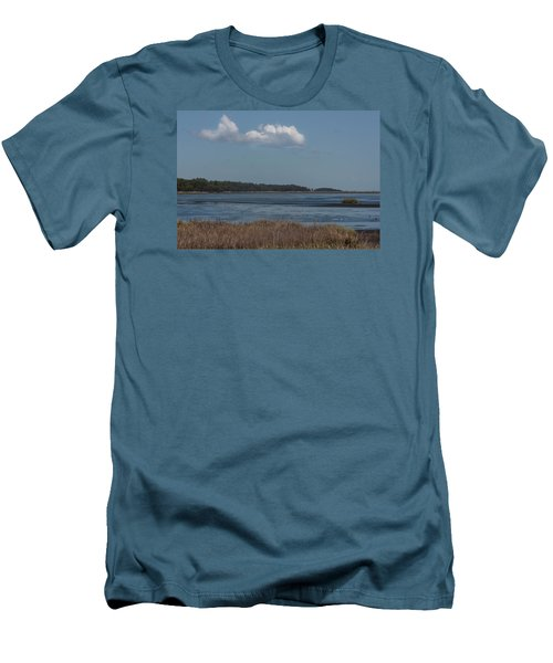 Yawkey Wildlife Reguge - View From The Causeway Men's T-Shirt (Slim Fit) by Suzanne Gaff