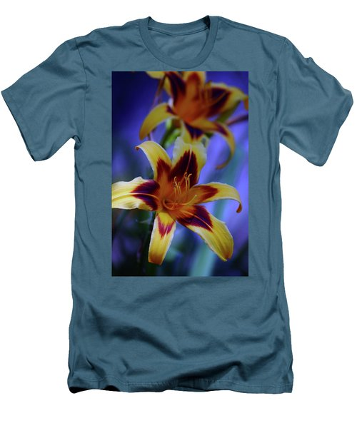 Yellow And Orange And Garnet Daylilies 1270 H_2 Men's T-Shirt (Athletic Fit)