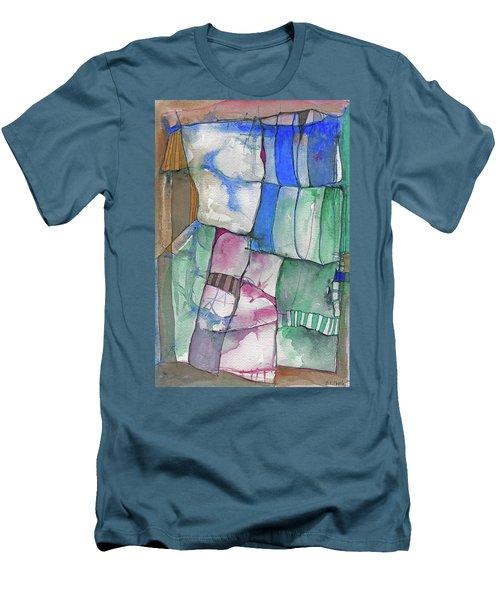 Yellow Awning Men's T-Shirt (Slim Fit) by Sandra Church