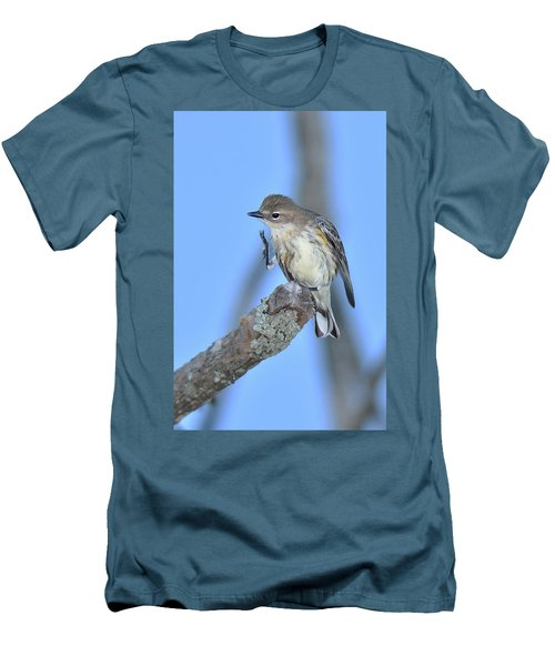 Yellow-rumped Warbler Itch Men's T-Shirt (Slim Fit) by Alan Lenk