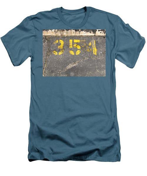 Yellow Three Five Five Four Men's T-Shirt (Athletic Fit)