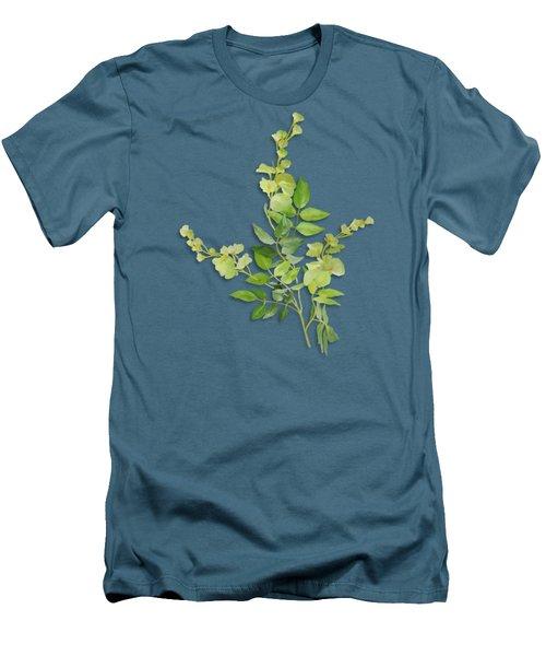 Yellow Tiny Flowers Men's T-Shirt (Slim Fit) by Ivana Westin