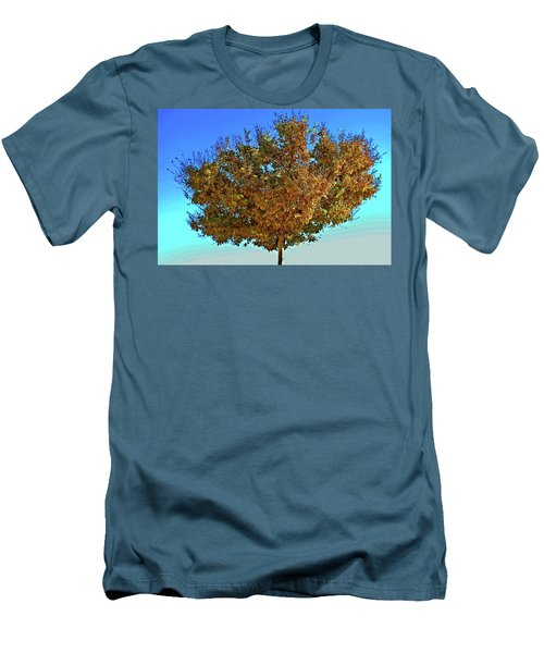 Yellow Tree Blue Sky Men's T-Shirt (Slim Fit) by Matt Harang