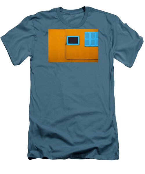 Yellow Wall, Blue Trim Men's T-Shirt (Athletic Fit)