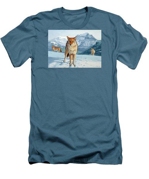 Yellowstone Coyotes Men's T-Shirt (Slim Fit) by Paul Krapf