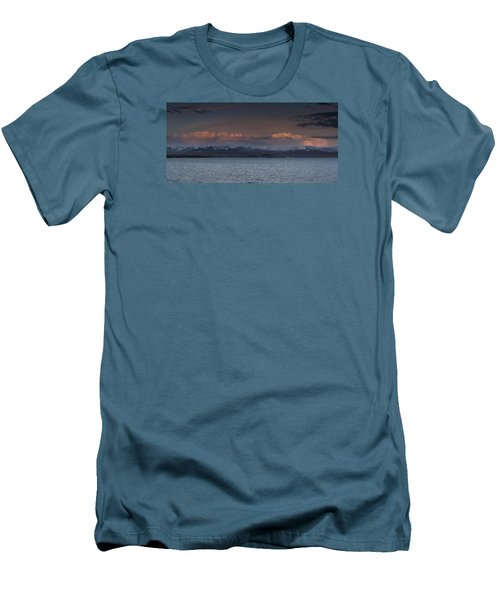 Yellowstone Lake At Sunset Men's T-Shirt (Athletic Fit)