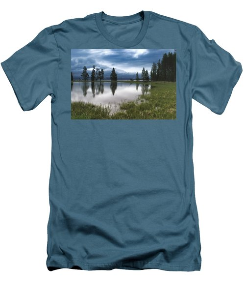 Yellowstone Lake Reflection Men's T-Shirt (Athletic Fit)