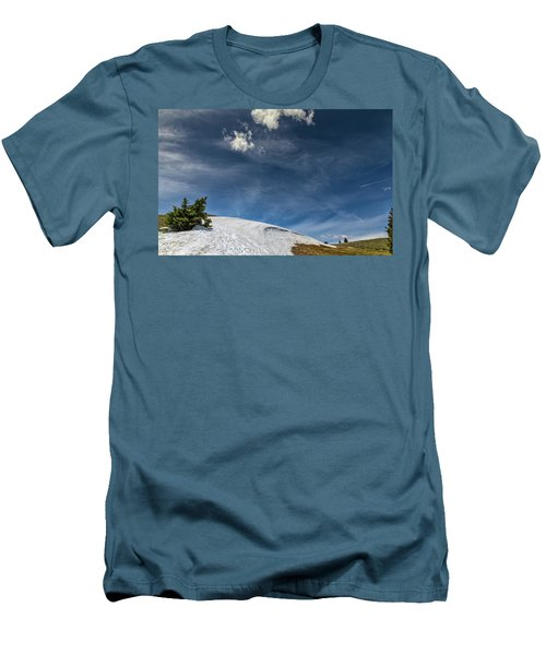 Men's T-Shirt (Athletic Fit) featuring the photograph Yellowstone Sky by John M Bailey