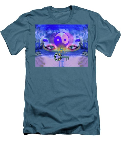 Yin Yang Key To Peace #190 Men's T-Shirt (Athletic Fit)