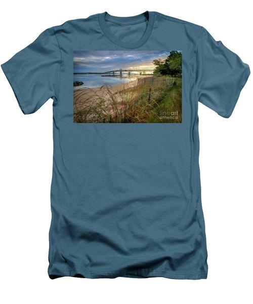 Yorktown Beach Sunrise Virginia Men's T-Shirt (Athletic Fit)