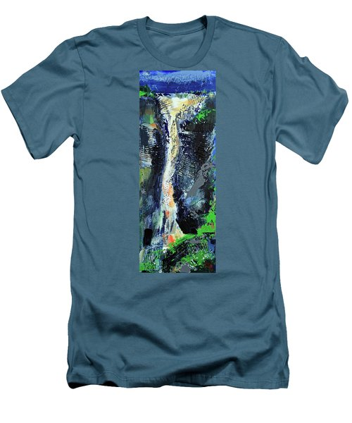 Men's T-Shirt (Athletic Fit) featuring the painting Yosemite Falls by Walter Fahmy