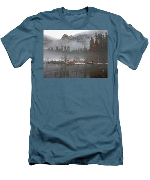 Men's T-Shirt (Athletic Fit) featuring the photograph Yosemite Winter Beginnings by Walter Fahmy