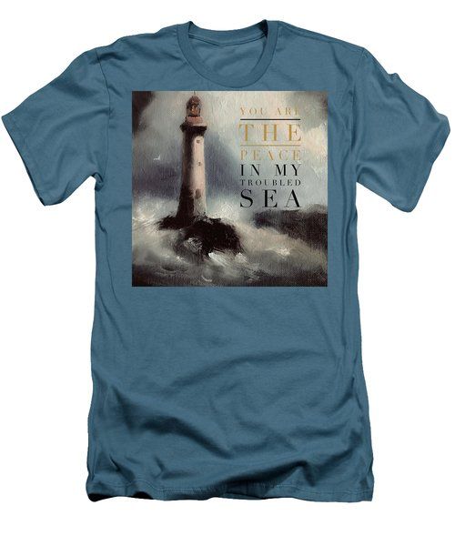 You Are The Peace In My Troubled Sea Lighthouse Men's T-Shirt (Slim Fit)