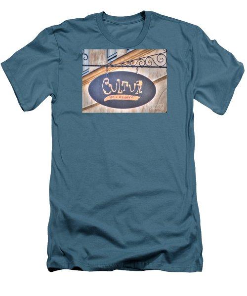 Men's T-Shirt (Slim Fit) featuring the pyrography Yury Bashkin Element City by Yury Bashkin