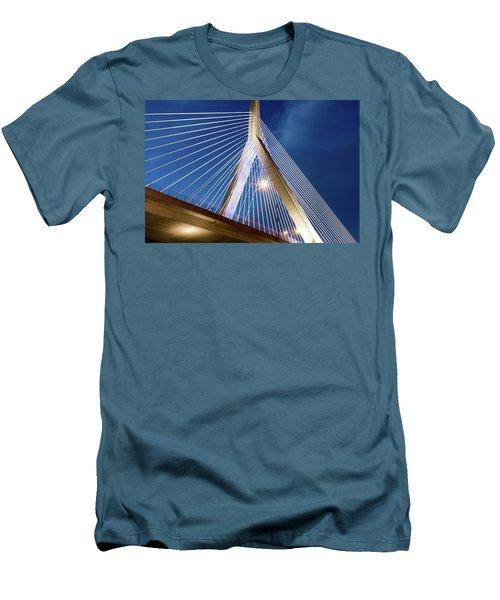 Zakim Bridge Upclose Men's T-Shirt (Athletic Fit)