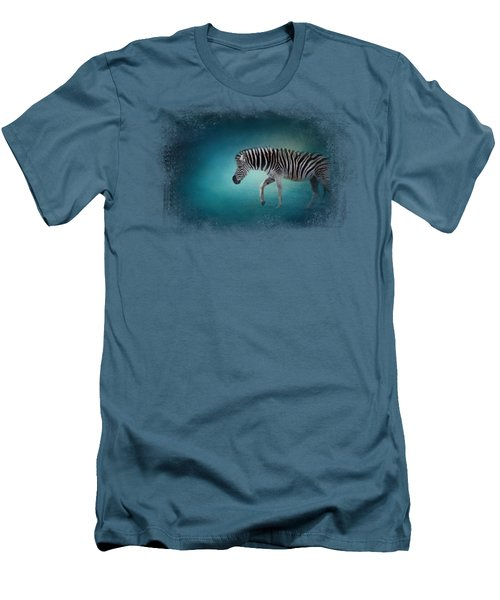 Zebra In The Moonlight Men's T-Shirt (Athletic Fit)