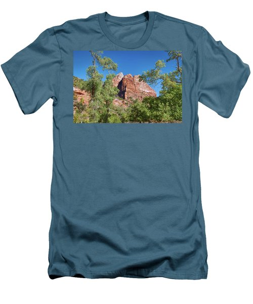 Men's T-Shirt (Athletic Fit) featuring the photograph Zion Contrasts by John M Bailey