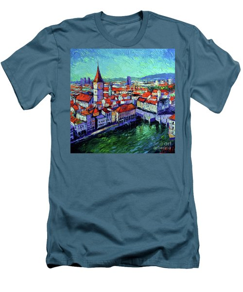 Zurich View Men's T-Shirt (Slim Fit)