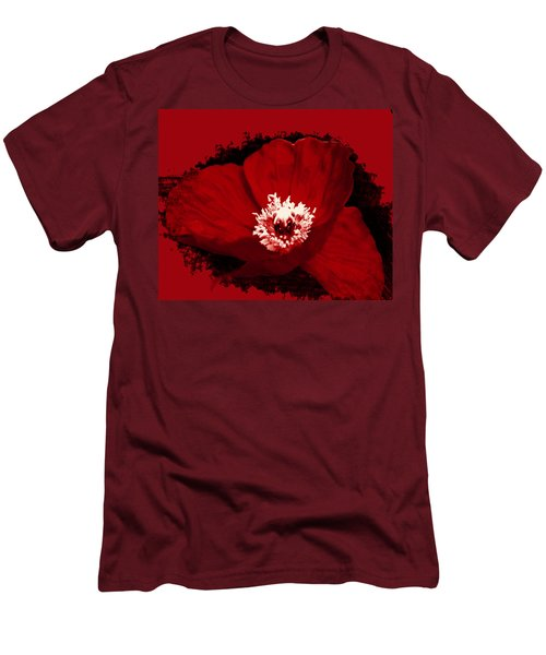 Poppy Men's T-Shirt (Slim Fit) by Tiffany Erdman