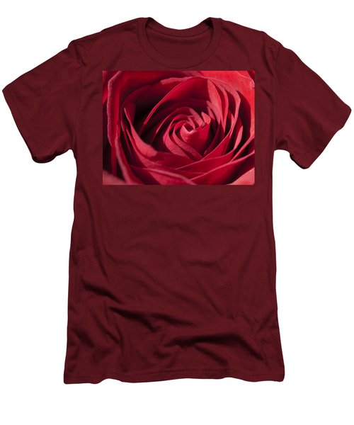 Rose Red Men's T-Shirt (Slim Fit) by Tara Lynn