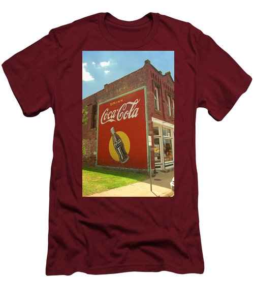 Route 66 - Coca Cola Ghost Mural Men's T-Shirt (Slim Fit) by Frank Romeo
