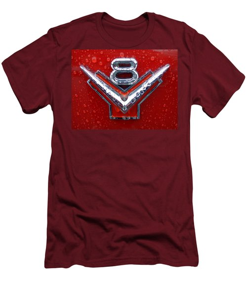 1955 Ford V8 Emblem Men's T-Shirt (Athletic Fit)