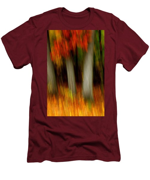 Blazing In The Woods Men's T-Shirt (Athletic Fit)