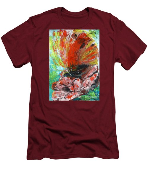 Butterfly And Flower Men's T-Shirt (Slim Fit) by Jasna Dragun