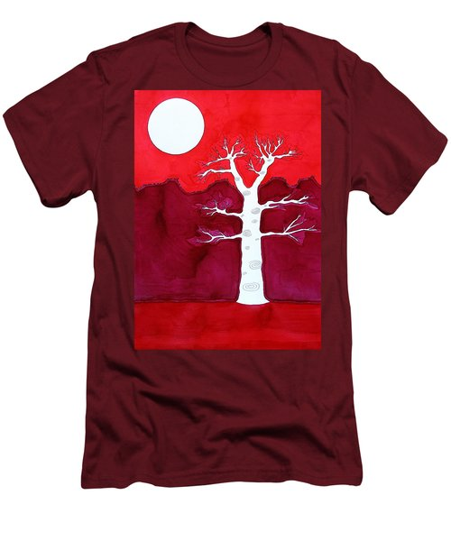 Canyon Tree Original Painting Men's T-Shirt (Slim Fit) by Sol Luckman