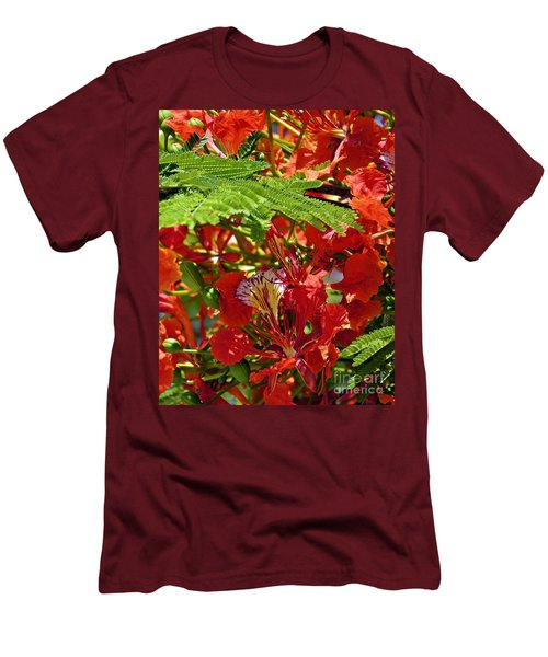 Men's T-Shirt (Slim Fit) featuring the photograph Flamboyan by Lilliana Mendez