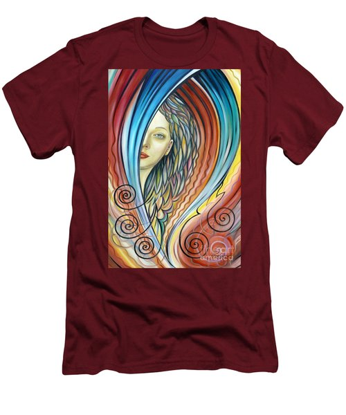Illusive Water Nymph 240908 Men's T-Shirt (Slim Fit) by Selena Boron