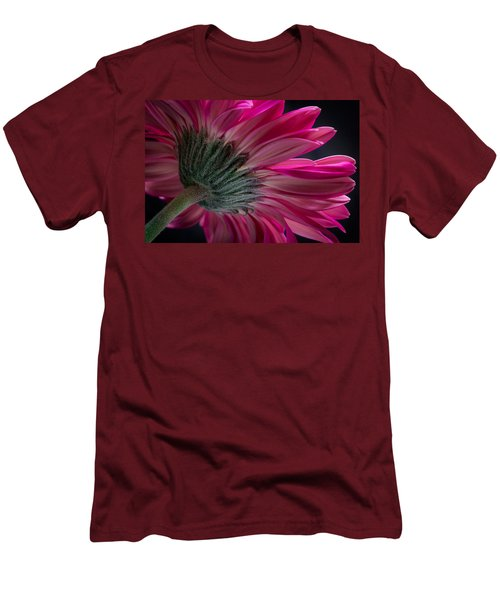 Pink Flower Men's T-Shirt (Slim Fit) by Edgar Laureano