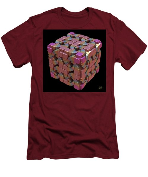 Men's T-Shirt (Slim Fit) featuring the digital art Spiral Box IIi by Manny Lorenzo
