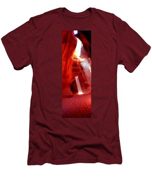 Sunlight Passing Through Rock Men's T-Shirt (Athletic Fit)