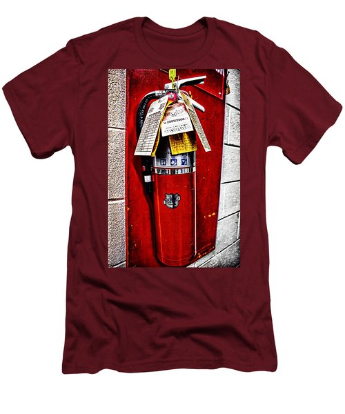 Grungy Fire Extinguisher Men's T-Shirt (Athletic Fit)