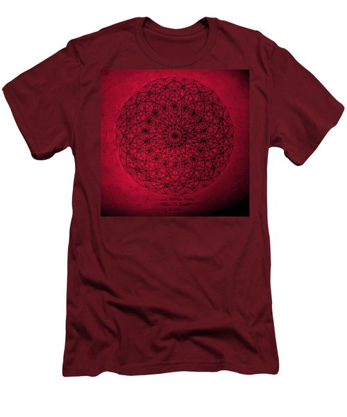 Men's T-Shirt (Slim Fit) featuring the drawing Wave Particle Duality by Jason Padgett
