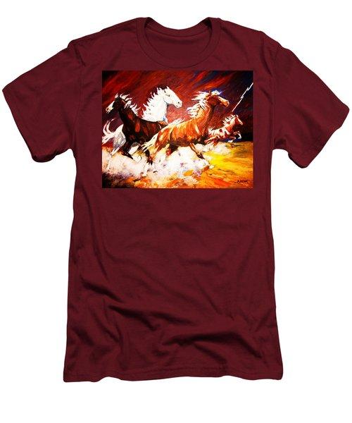 Unexpected Lighting Bolt Men's T-Shirt (Athletic Fit)