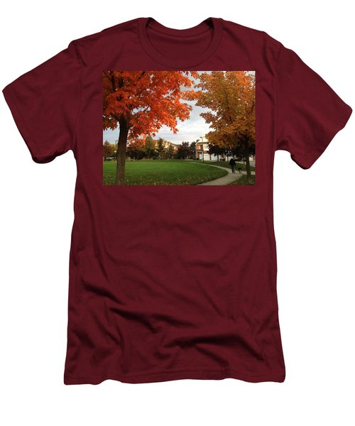 A Walk In The Park Men's T-Shirt (Slim Fit) by Pema Hou