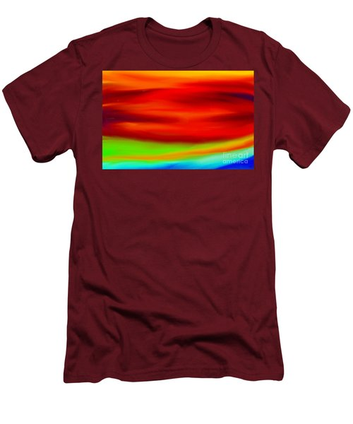 Abstract Colors Men's T-Shirt (Slim Fit) by Anita Lewis