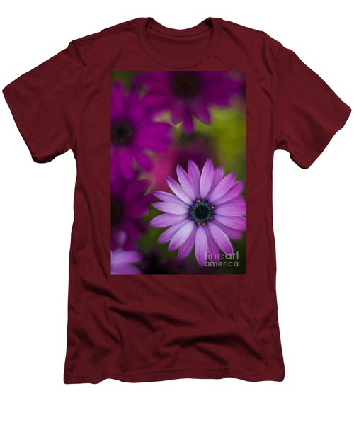 African Gerbera Standout Men's T-Shirt (Slim Fit) by Mike Reid
