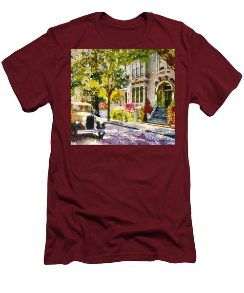 Alameda  Afternoon Drive Men's T-Shirt (Slim Fit) by Linda Weinstock