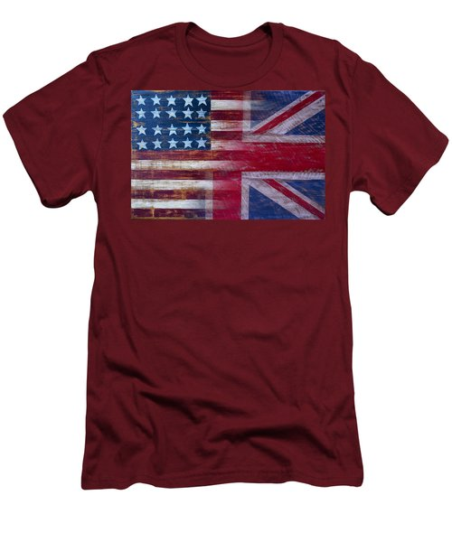 American British Flag Men's T-Shirt (Slim Fit) by Garry Gay