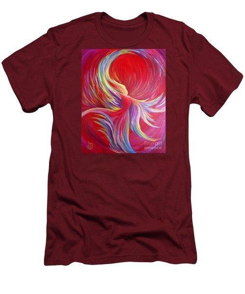 Angel Dance Men's T-Shirt (Slim Fit) by Nancy Cupp